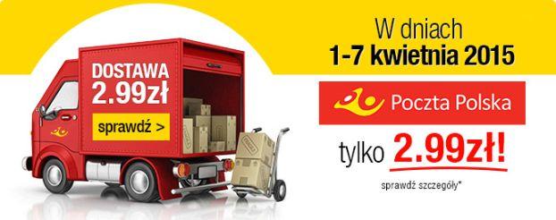 TaniaKsiazka.pl wysyła paczki za jedyne 2.99 zł!