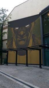 Zły Leopolda Tyrmanda w formie muralu