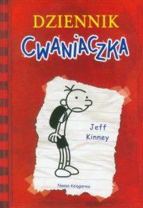 Dziennik cwaniaczka Jeff Kinney, okładka książki