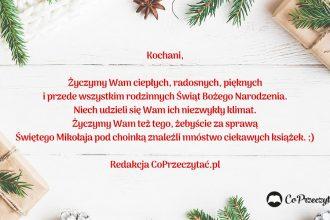 Wspaniałych Świąt życzy redakcja CoPrzeczytać.pl