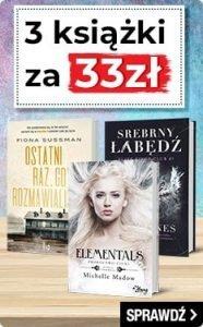 3 ksiażki za 33 zł! Sprawdź na www.taniaksiazka.pl