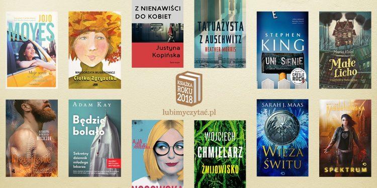 Książka Roku 2018 LubimyCzytać.pl - wyniki plebiscytu