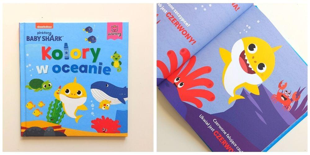 Książeczki dla dzieci Baby Shark - Kolory w oceanie - okładka