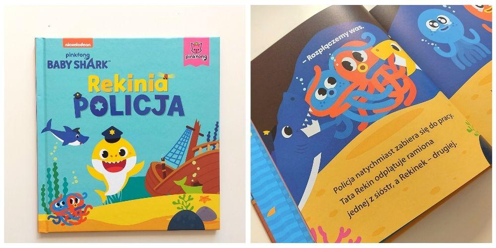 Rekinia policja. Baby Shark - okładka książeczki dla przedszkolaków