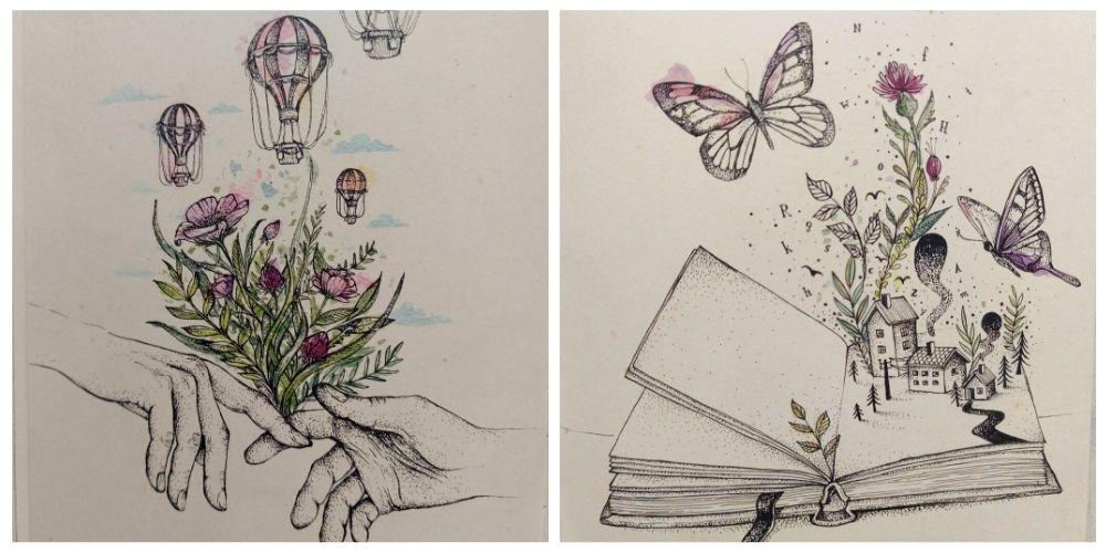 Warstwy Marty Szloser - artbook dla dzieci, książka artystyczna