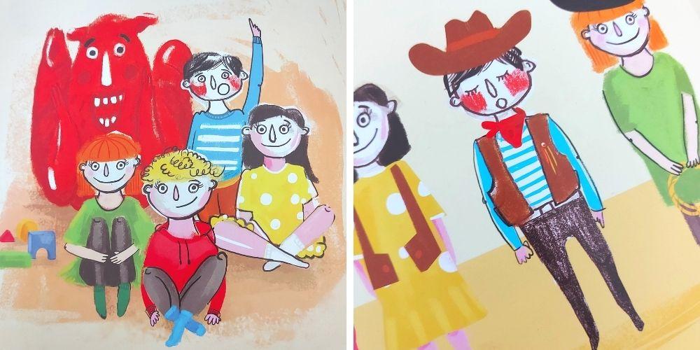 Czerwony kłopot - ilustracje z książki dla dzieci o emocjach
