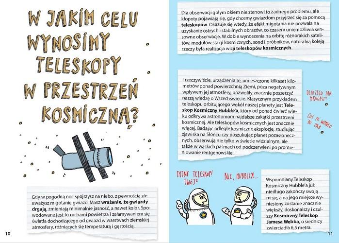 Książka popularnonaukowa o kosmosie dla dzieci