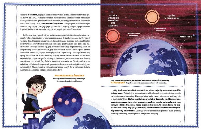 Książka dla dzieci zainteresowanych astronomią
