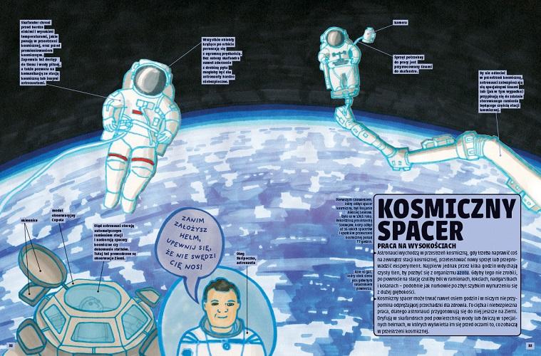 Książki o kosmosie - Tu jesteśmy - ilustracja