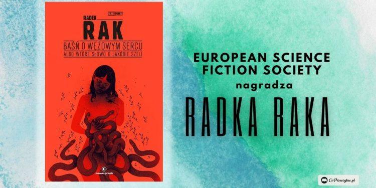 Radek Rak z Nagrodą Europejskiego Stowarzyszenia Science Fiction