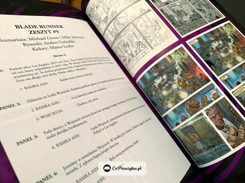 Szkice zeszytów Blade Runner 2019. Komiks dostępny w sprzedaży na TaniaKsiazka.pl