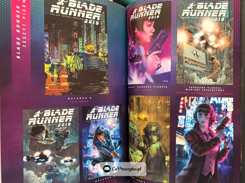 Okładki zeszytów serii Blade Runner 2019